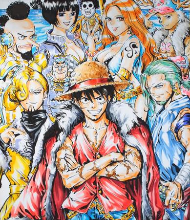 ルフィが海賊王になった10年後の麦わら海賊団(色が入る)